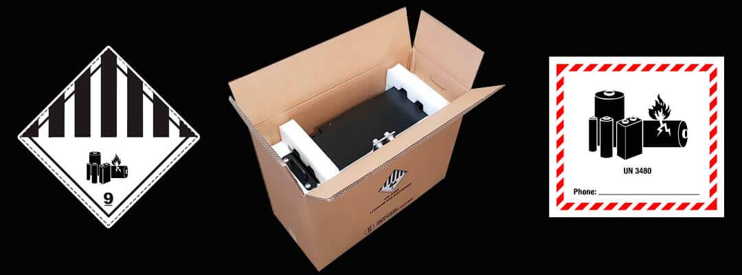 caisse batteries lithium homologuée ONU