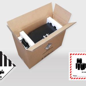 Caisses carton ONU Batteries Lithium