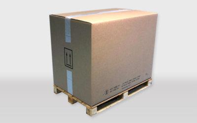 Caisses palettes en carton homologuées ONU 4GV, 4G, 11G