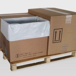 Europemballage caisse carton avec sache accessoire rétention des liquides et solides